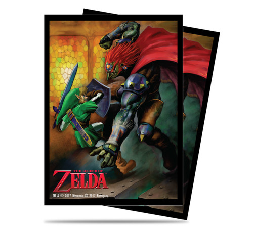 Ultra Pro Deck Protector - Std. Sleeves - 65 Count - Legend of Zelda - Link vs Gannon