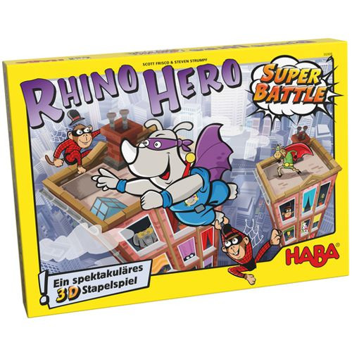 Rhino Hero SUPER BATTLE !  A Heroic Stacking Game - HABA Games