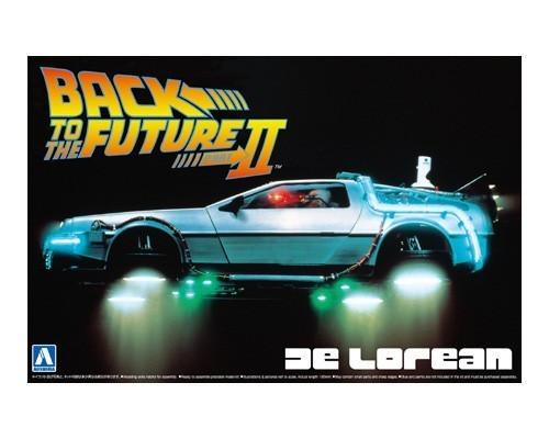 Back to the Future Part 2 - 1:24 Delorean Scale Model Kit - Aoshima Models