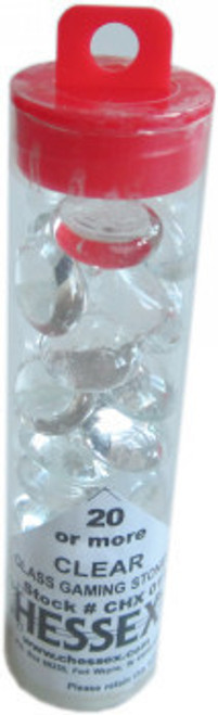 Chessex Accessories - Glass Gaming Stones - CLEAR - QTY - 20 or more