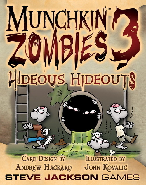 Munchkin Zombies 3 - Hideous Hideouts Card Game Expansion
