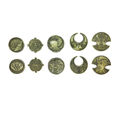 """Norse Foundry - Adventure Coins - Variety Pack  (Set of 10) """"Elven Gold"""""""