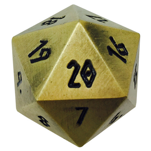 Norse Foundry - Bronze Dragon Scale - 1 x 25mm D20 Countdown Dice