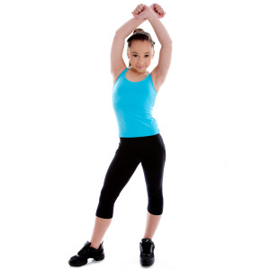 Energetiks Double Cross Singlet - Girls Dancewear Tops