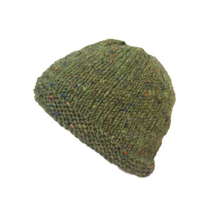 Donegal Tweed Beanie  Moss Green