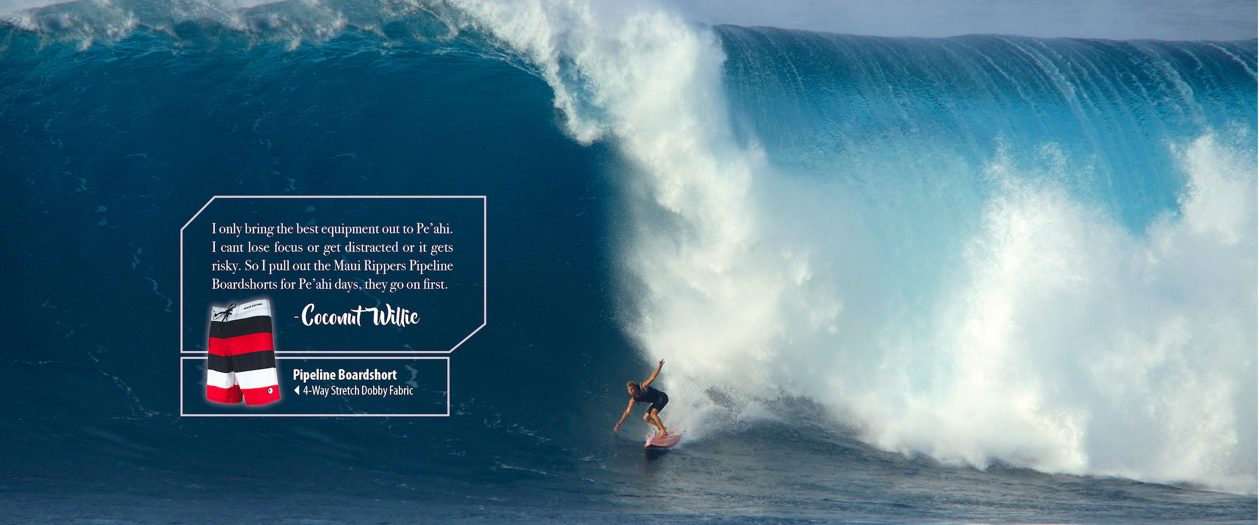 Maui Board Shorts Pipeline Coconut Willie Peahi Maui Rippers