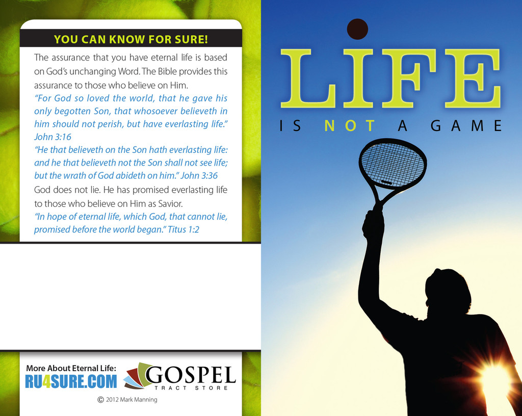 Life Is Not A Game-Tennis