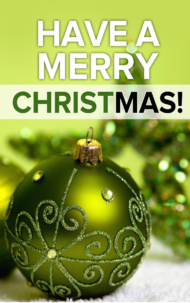 Have a Merry Christmas-Green Globe