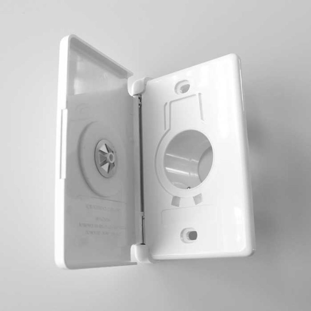 Central Vacuum Inlet Full Door White