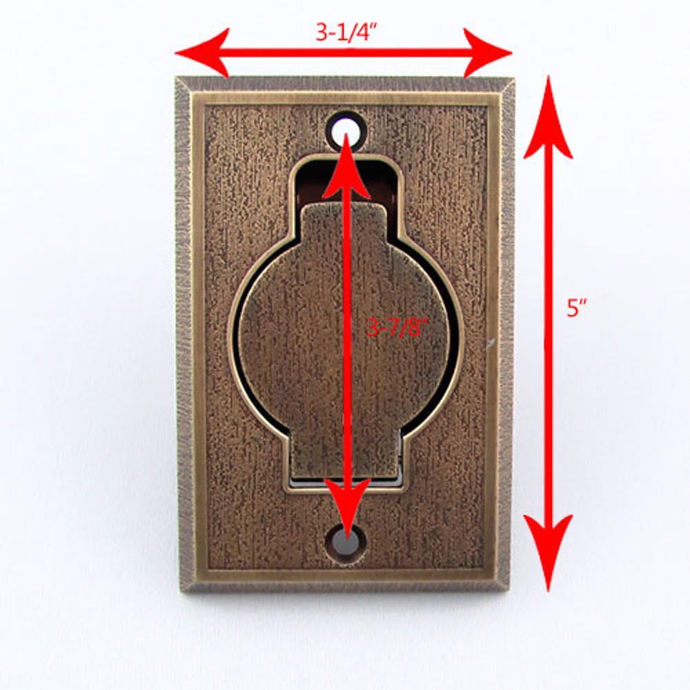 Metal Inlet Valve Dimensions - Bronze Pictured