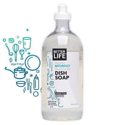 Better Life Unscented All Natural Dish Soap