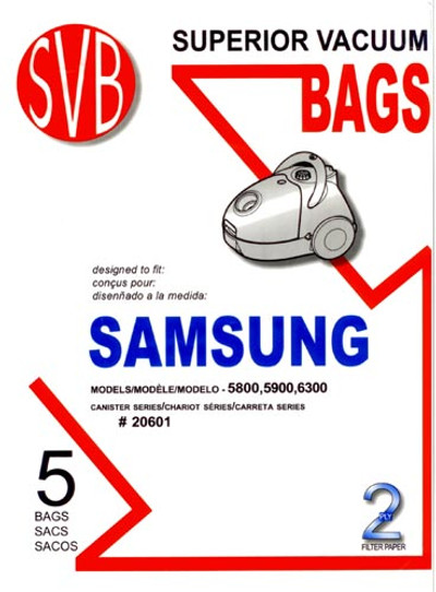 Samsung Vacuum Bags for 5800, 5900 and 6300 Series