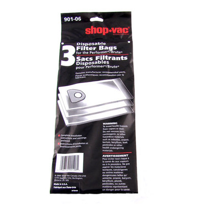 Shop Vac Dry Collection Bags with Filter