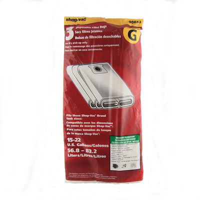 ShopVac 15 - 22 Gallon Bags