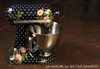 Navy Polkadot floral and berries custom painted KitchenAid Mixer {Artisan Mixer not Included}