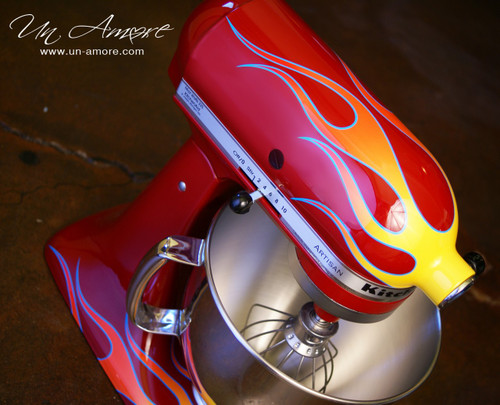Hot Rod flamed Custom KitchenAid *ARTWORK ONLY {mixer not included}