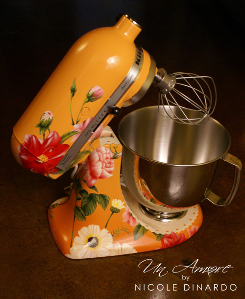 """EXCLUSIVE - The """"Original"""" Pioneer Woman Edition Custom  Floral Artwork {mixer NOT Included}"""