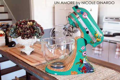 EXCLUSIVE - The Pioneer Woman {Third} Edition Custom Floral KitchenAid Mixer {Artisan Series mixer Included}