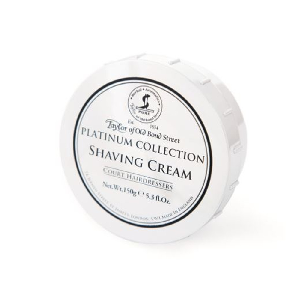 Taylor of Old Bond Street - Platinum Collection Shaving Cream | 150g 5.3 fl oz | Agent Shave