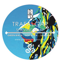 Phoenix & Beau Trafalgar Shaving Soap | Green Birch, North Sea, Samphire | Agent Shave