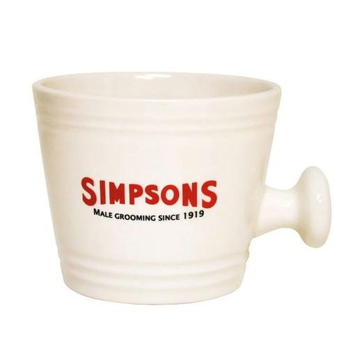 Simpsons Cream Traditional Shaving Mug – Small