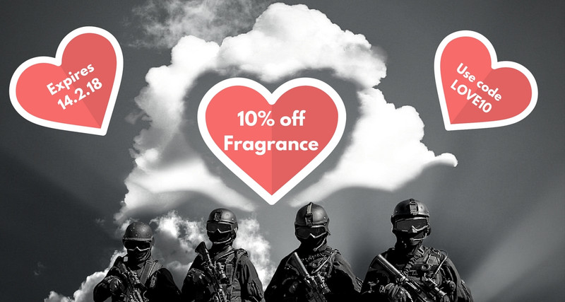 10% off all Fragrance until Valentines Day