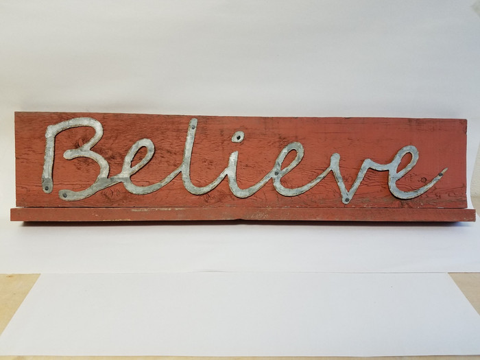 Believe Sign
