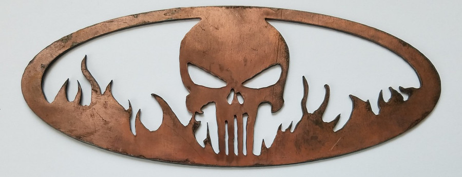 BBQ Bling Punisher Skull