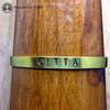 CITTA (Consciousness) Brass Sanskrit MantraCuff (100% Handmade / Adjustable)