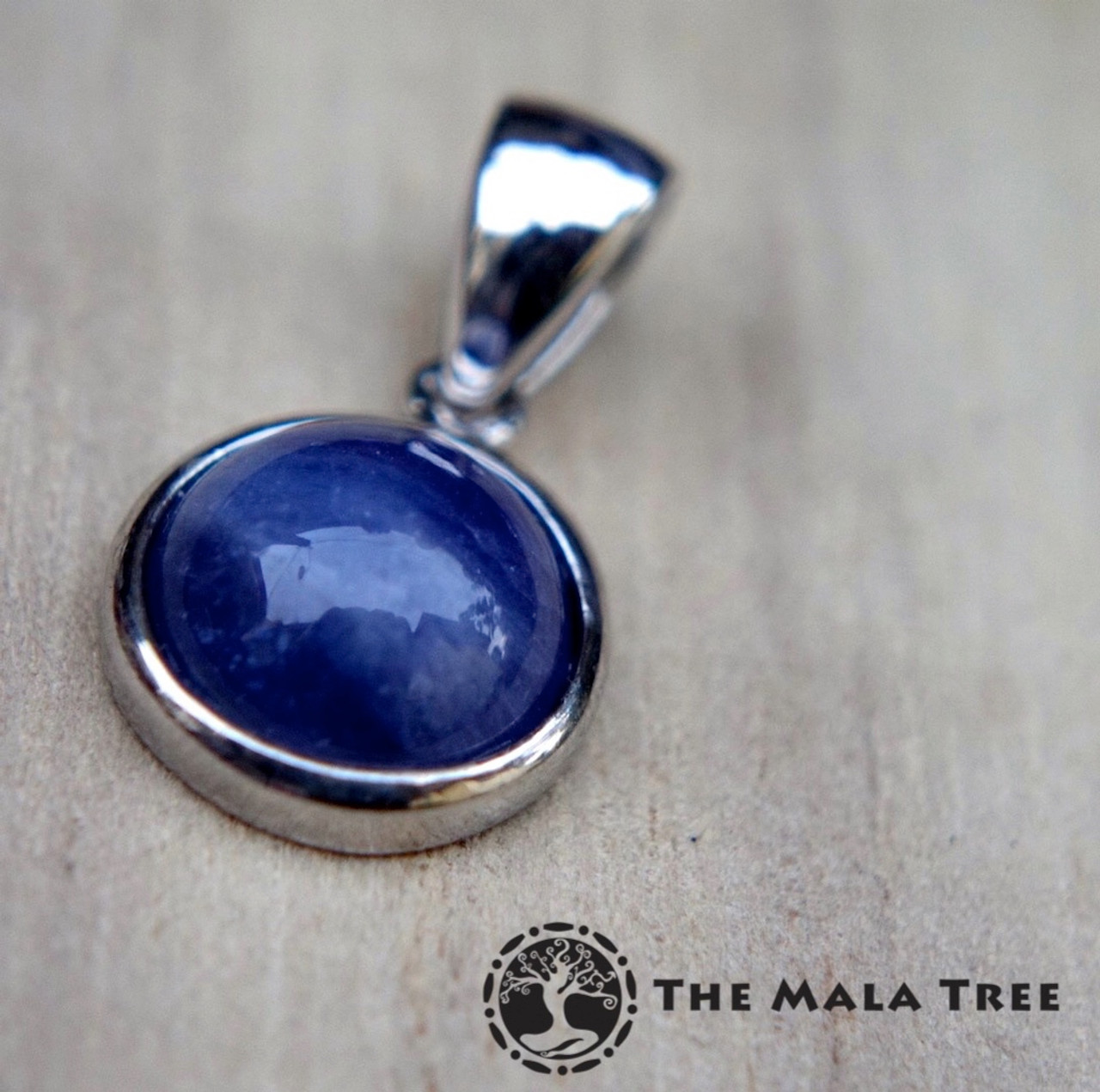 certified tanzanite silver design chain img natural pendant beautiful necklaces iolite products