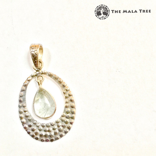 AQUAMARINE DANGLING Lux Pendant (Set in High Quality Silver)