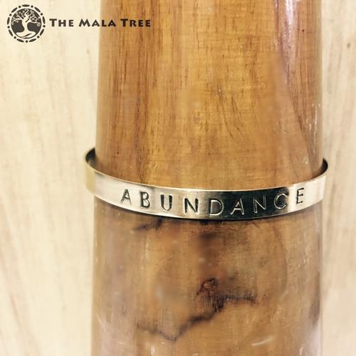 ABUNDANCE Brass MantraCuff (100% Handmade / Adjustable)