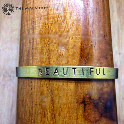 BEAUTIFUL Brass MantraCuff (100% Handmade / Adjustable)