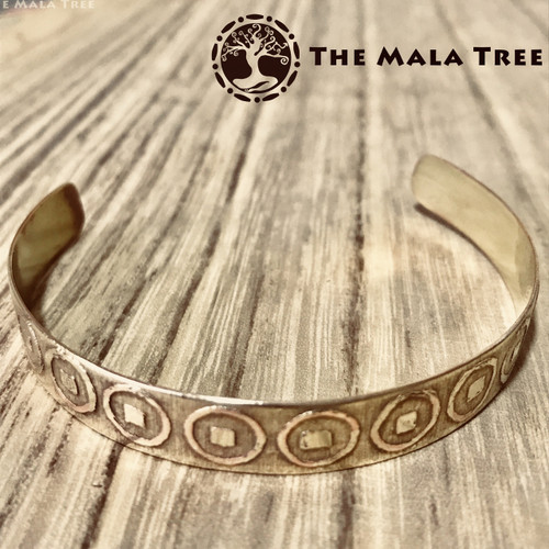 THE LUCKY COIN  Brass Healing Bangle (Handmade)