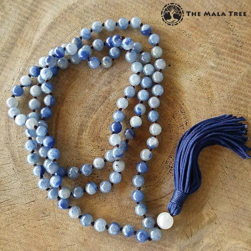 BLUE AVENTURINE Classic 108 Japa Mala