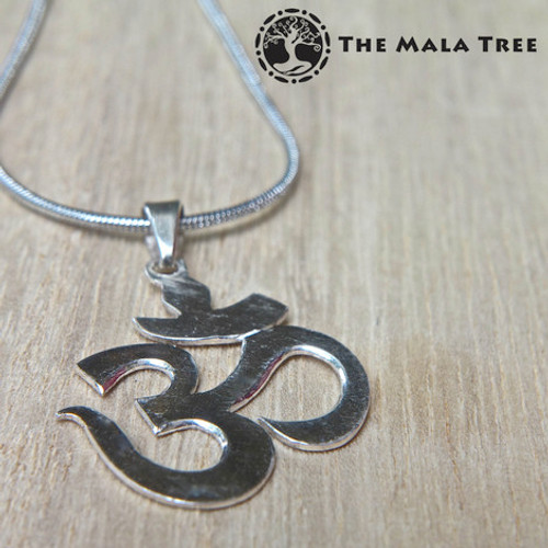 The traditional om pendant silver pendant the mala tree the traditional om pendant silver pendant aloadofball Images