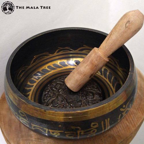 Tibetan Singing Bowl with Mantra