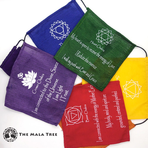 SEVEN CHAKRA AFFIRMATION FLAGS