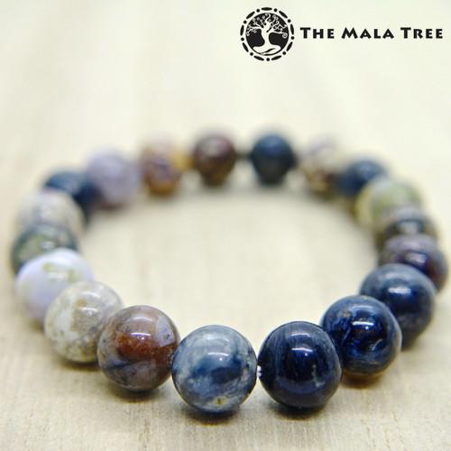 Multicolor PIETERSITE Bracelet 10mm
