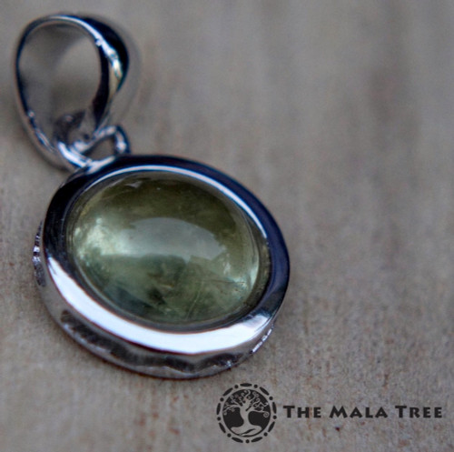 Yellow kunzite hiddenite silver pendant the mala tree yellow kunzite hiddenite silver pendant mozeypictures Gallery