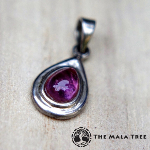 SUPER SEVEN SILVER PENDANT (Teardrop, Thick Frame)