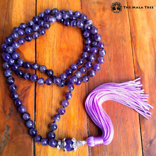 ALL AMETHYST Bespangled 108 Mala