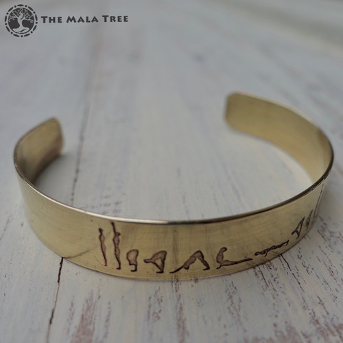 SURYA NAMASKAR / SUN SALUTATION Brass Healing Bangle (Handmade)