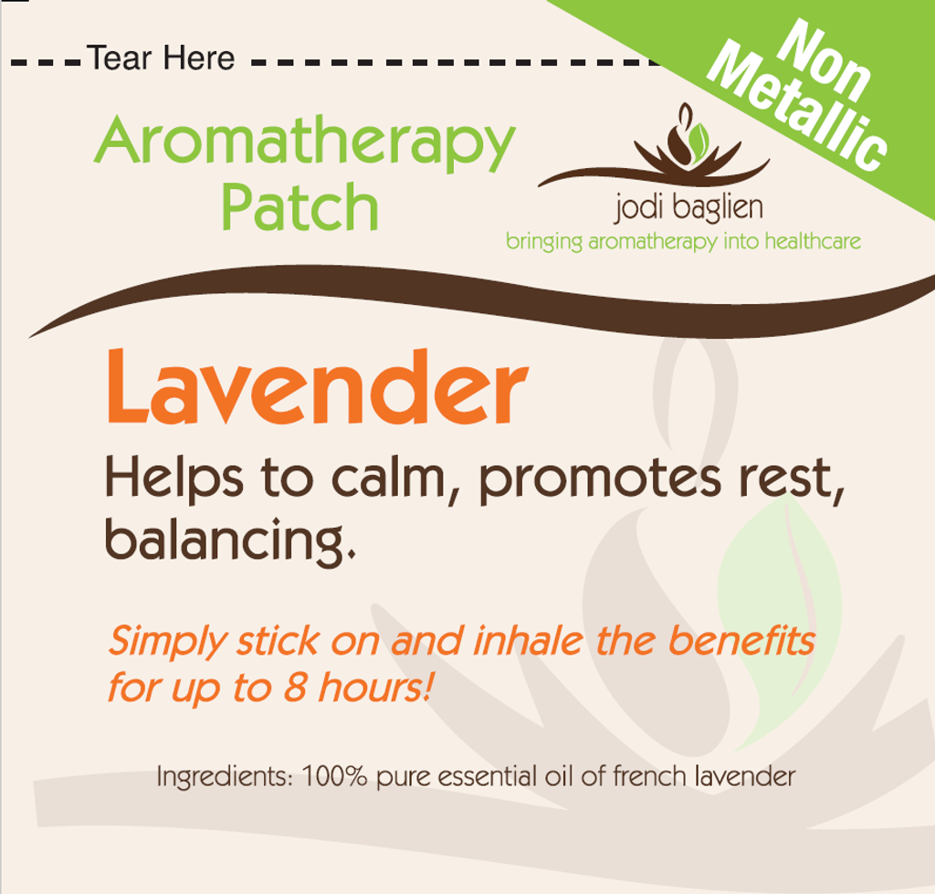 Aromatherapy Patch - Non-Metallic Lavender - Pack of 12