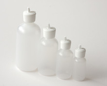 Plastic Bottle 2 oz.  With White Flip Top Cap