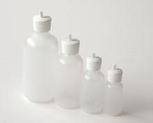Plastic Bottle 4 oz.  With White Flip Top Cap