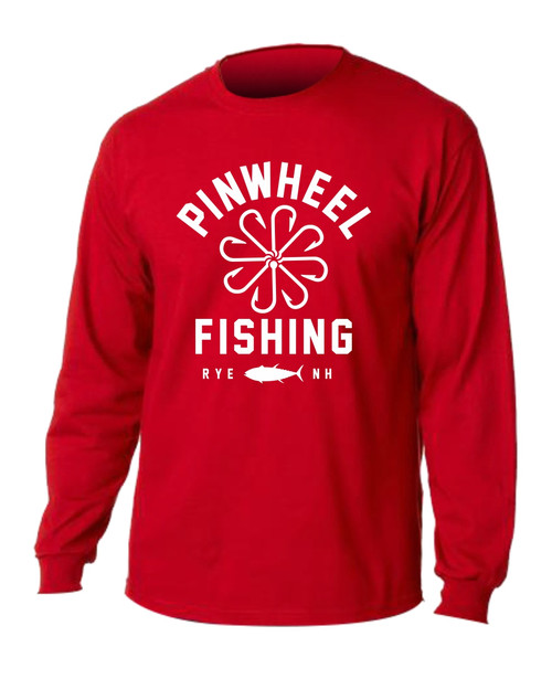 Pinwheel fishing l s tee for Long sleeve fishing t shirts