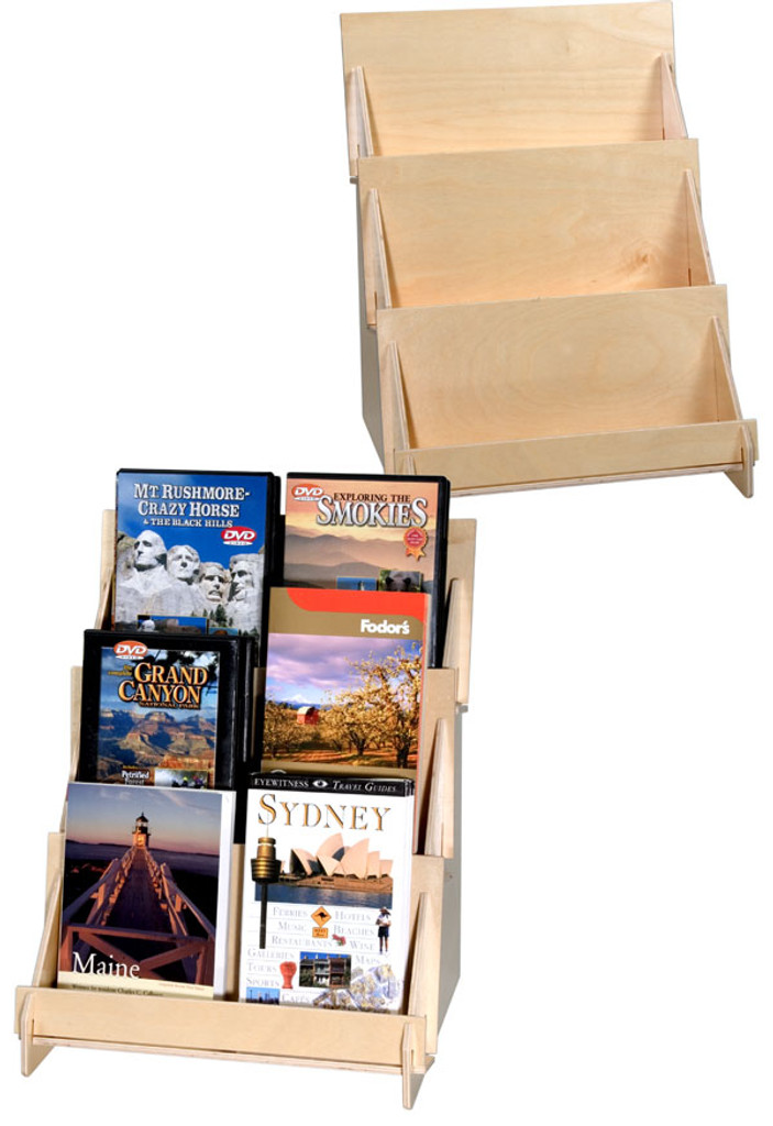 Plywood Display 3 Tier 4908