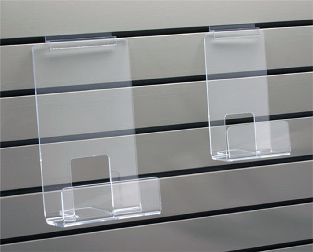 clear acrylic face out bookshelf for slatwall