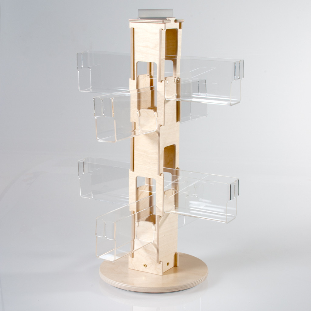 Birch Counter Spinner with Clear Pockets (417) NEW PRODUCT!